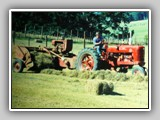 HARCOURT BALING WITH FARMALL M & INTERNATIONAL 55T